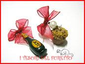 Orecchini Natale 2011 Panettone spumante Capodanno idea regalo