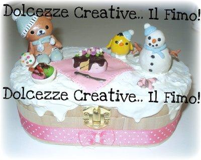 ★★SALDI Cofanetto- I <3 winter - Rilakkuma - pulcino e pupazzo di neve ^__^ idea regalo natale