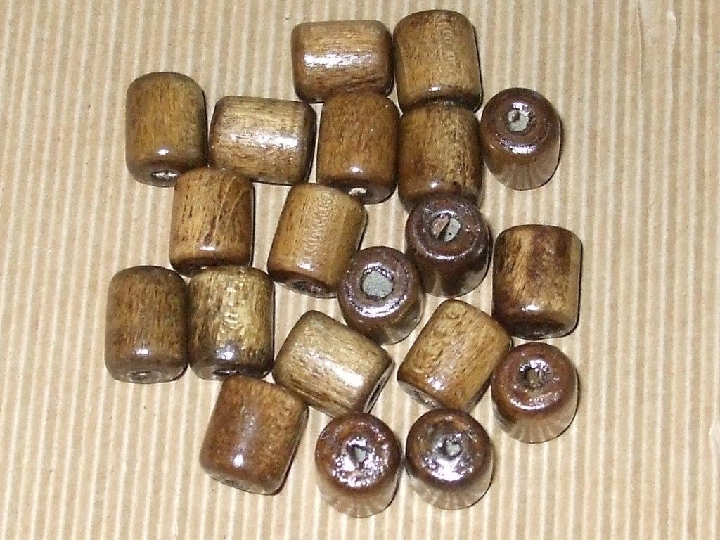 20 perle legno a cilindretto vend.