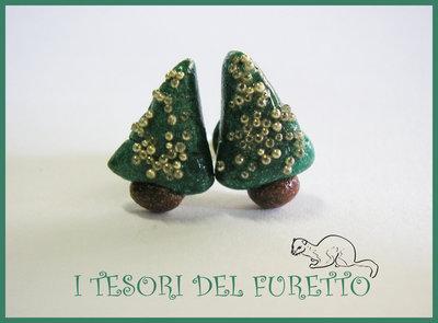 Orecchini Natale Perno alberi natale idea regalo