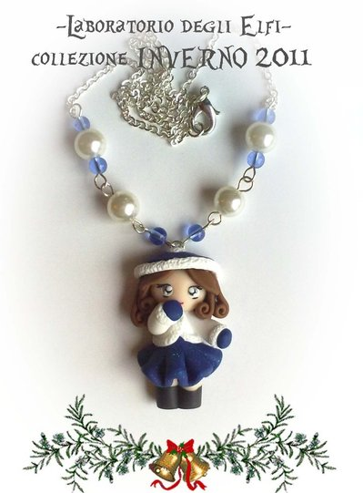 "Collana serie: ""Chilly dolls"" fimo"