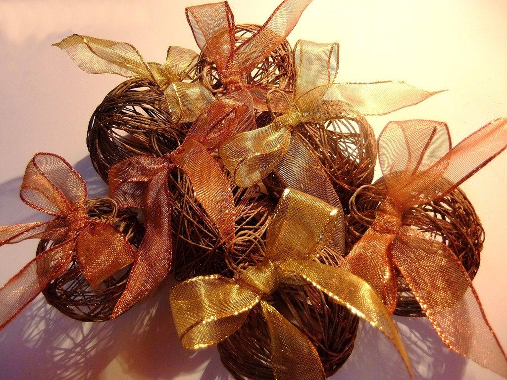 Palline albero di Natale handmade- 7 pezzi