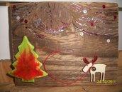 targhetta legno buon Natale