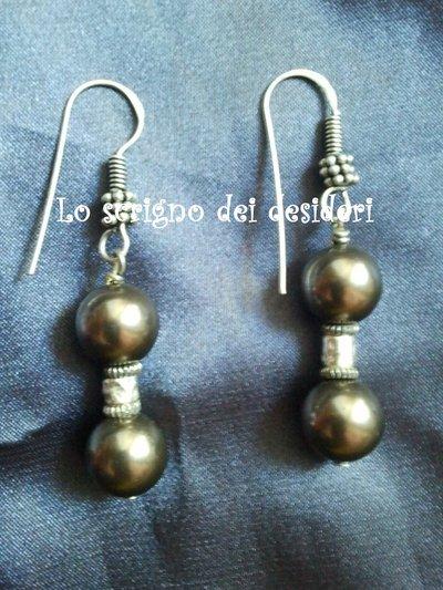 """Orecchini """"black pearl"""""""