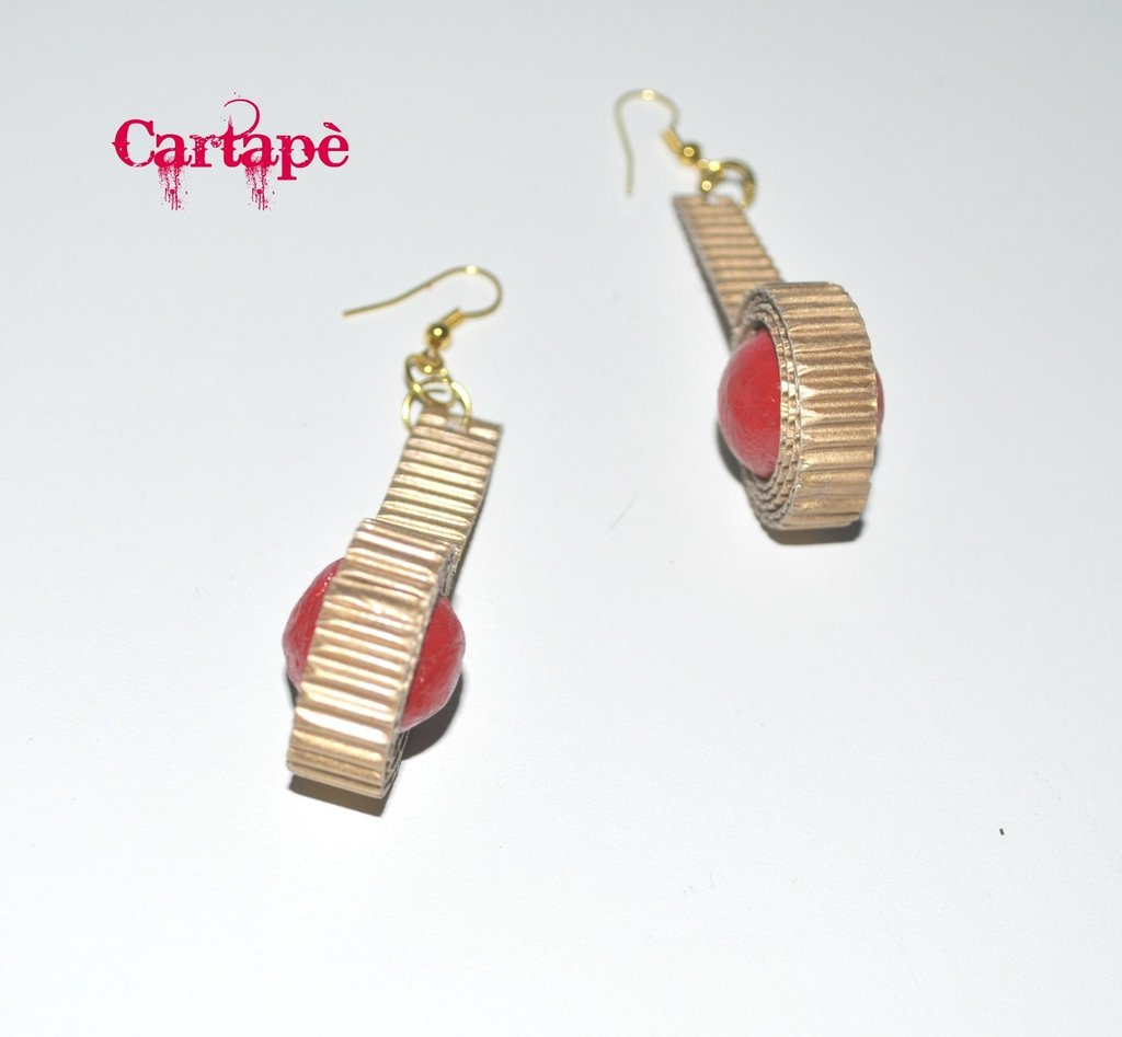 Gold paper earrings