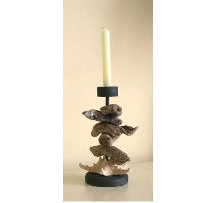 Porta candela   PACIFIC con bois flotté fatto a mano
