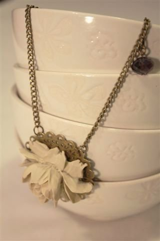 Flower Necklace Vintage - Collana vintage con Fiore