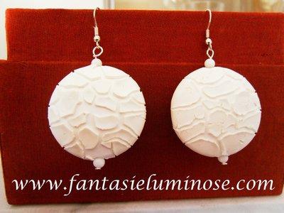 orecchini ceramica bianca