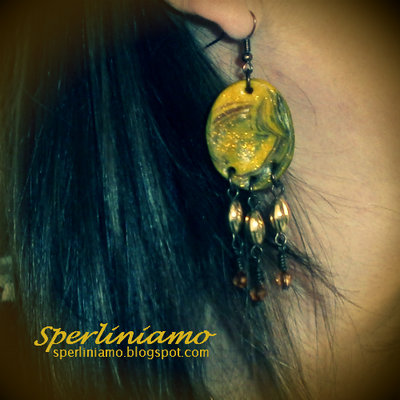 Earrings Ethnic Yellow