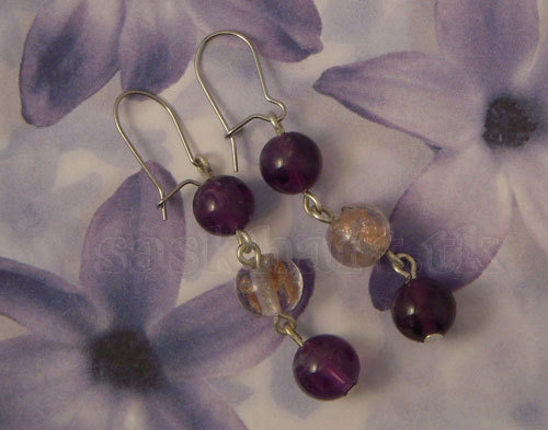 orecchini violet rain