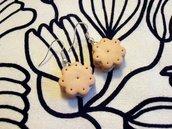 Biscottini farciti - orecchini in Fimo