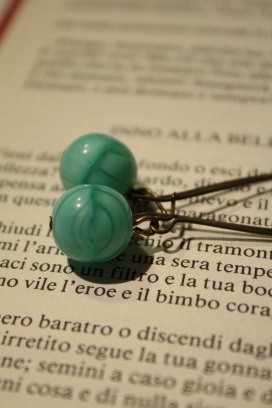 Bubble earrings - Oreccnini con perle in vetro