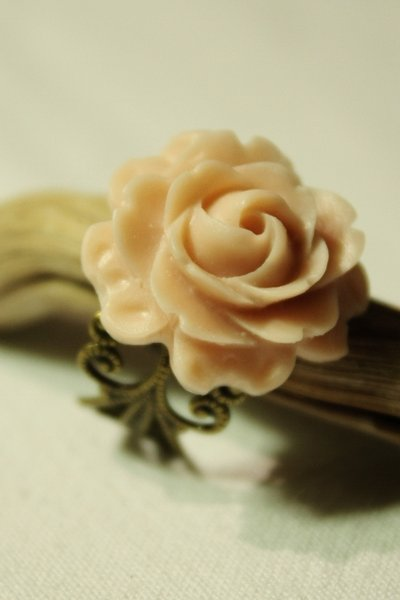 Rose Ring - Anello in bronzo con rosa