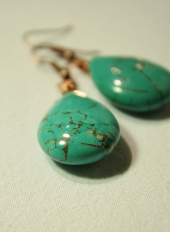 Turquoise Earrings - Orecchini con gocce di turchese