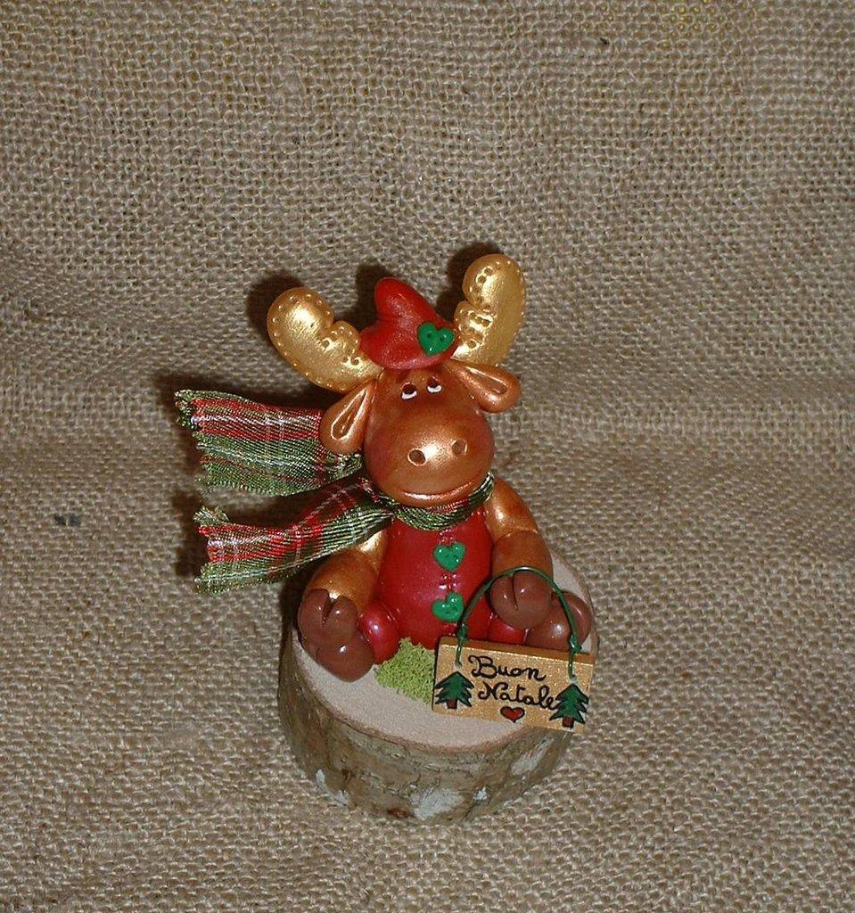 Rudolf la renna in pasta di mais