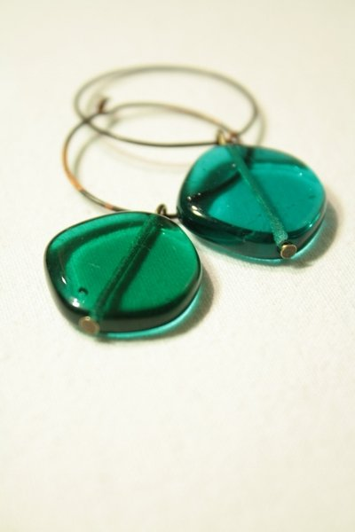 Ocean Earrings - orecchini cerchi in rame
