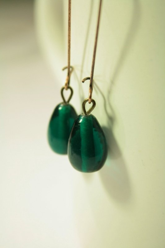 Colorful  Drops Earrings - Orecchini con gocce in vetro colorate