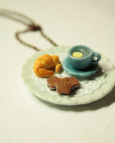 Good Morning Necklace - Collana miniatura prima colazione