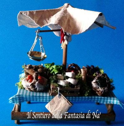 Bancarella frutta e verdura per presepe