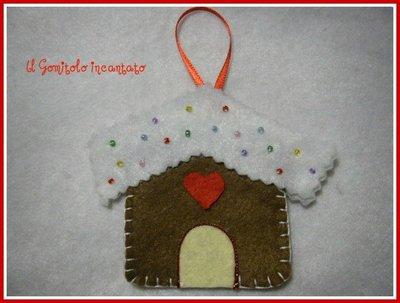 Decorazioni natale pannolenci: Gingerbread