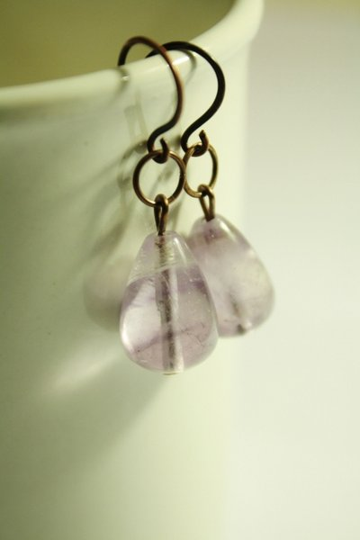 amethyst drops earrings - Orecchini con gocce di Ametista
