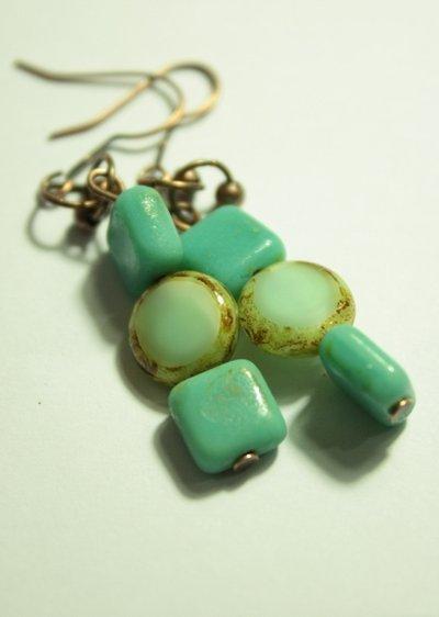 Ocean Breeze Earrings - Orecchin con perle Picasso Czech