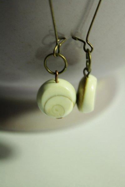 Shiva Earrings - Orecchini con pastiglia liscia Shiva