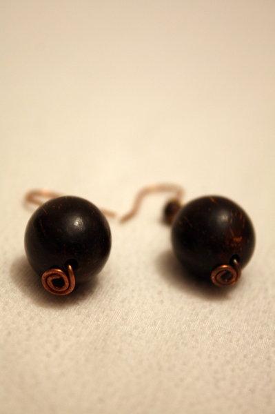 orecchini in cocco