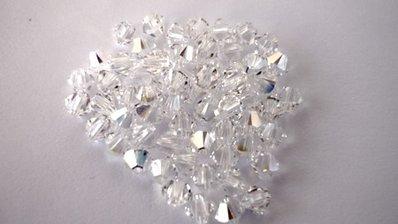 48 Swarovski bicono Crystal AB 4 mm