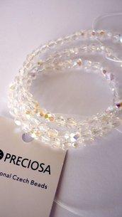 Cristalli Preciosa boemia Round Crystal AB 4 mm