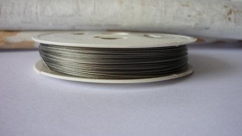 Cavetto tiger tail silver acciaio rivestito
