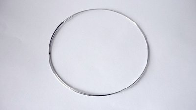 Collana armonica memory wire argentata 0,6 mm Nickel free