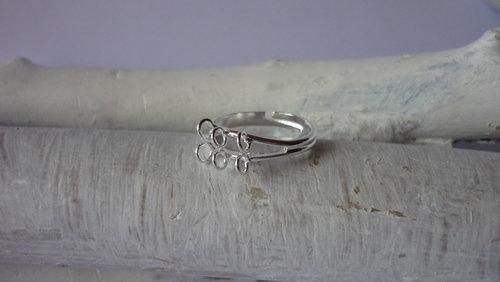 Base anello argentato Nickel free