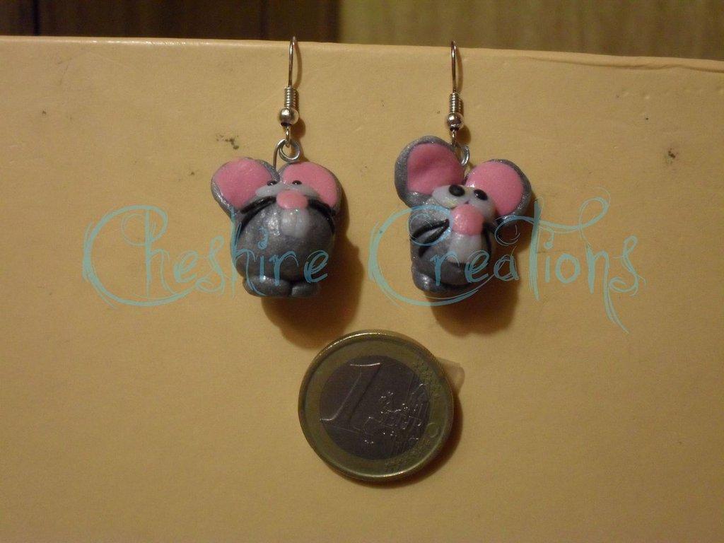 orecchini topolini