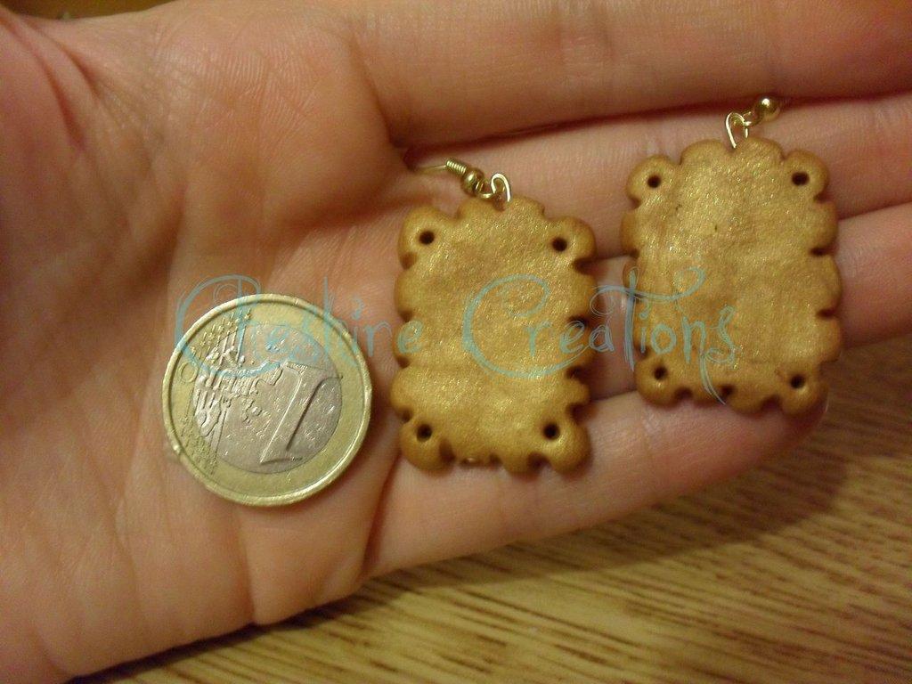 orecchini biscotti oro saiwa