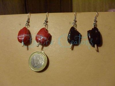 orecchini fior di fragola e cremini