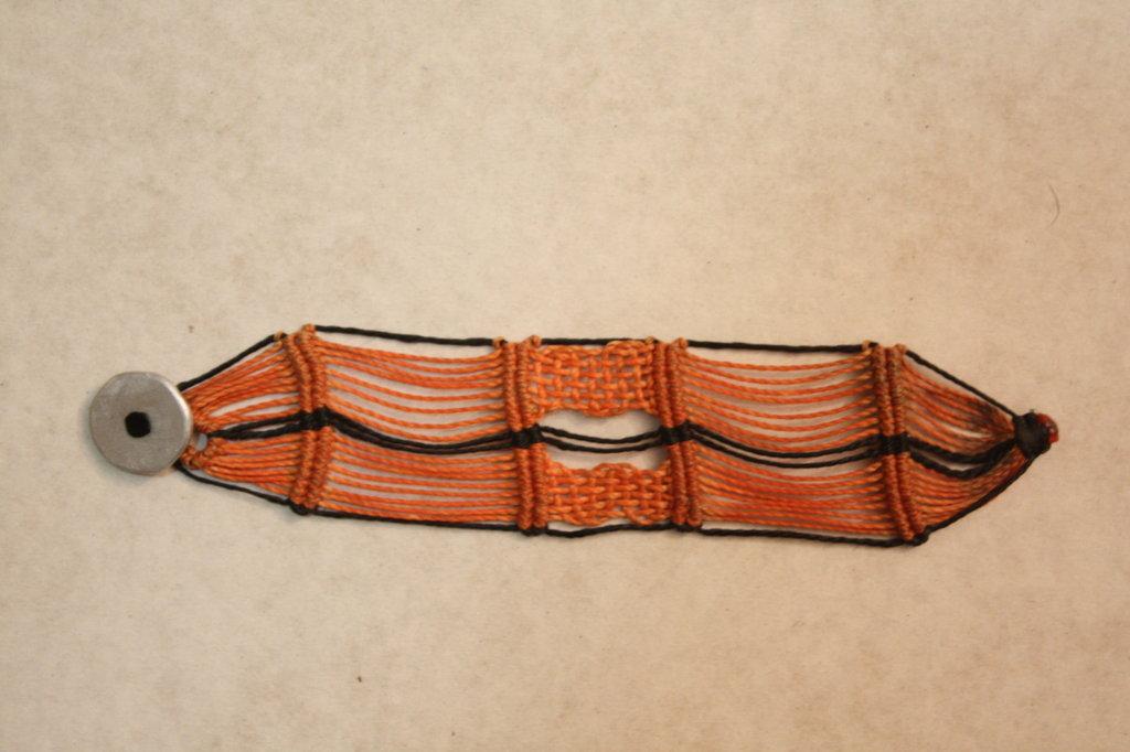 braccialetto macramé unisex largo