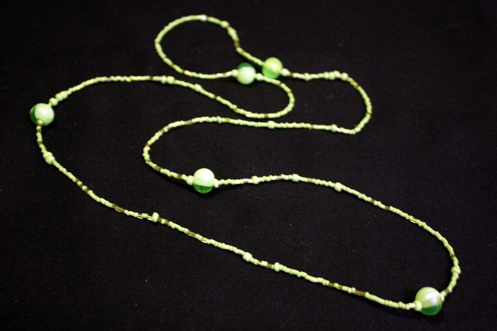 collana lunga con perline