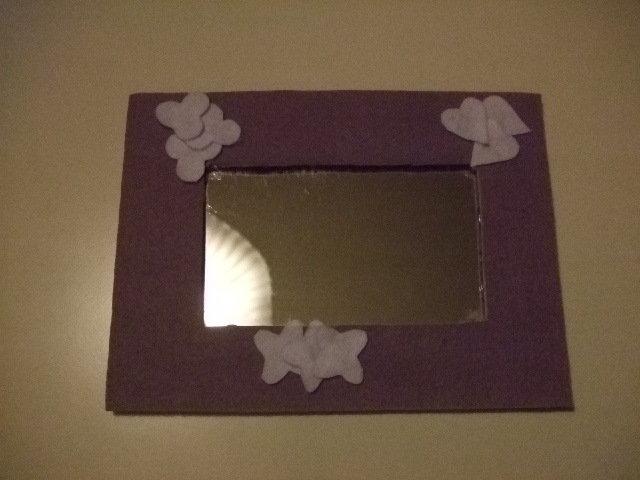 specchio in feltro