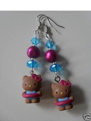 Orecchini Hello Kitty *ABBRONZATISSIMA CELESTE* Sanrio