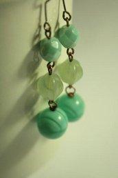 Blue Tiffany - Orecchini con perle in vetro