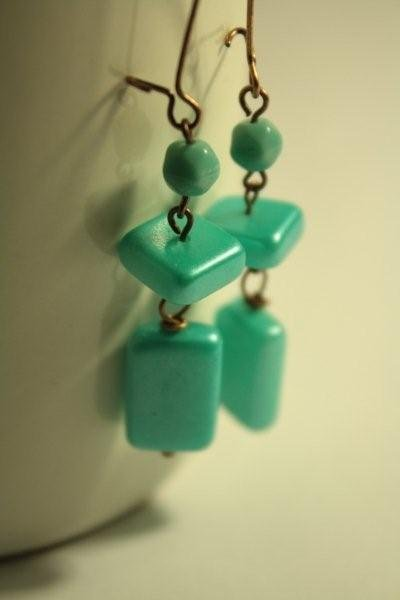 Tiffany Earrings - orecchini in vetro perlato