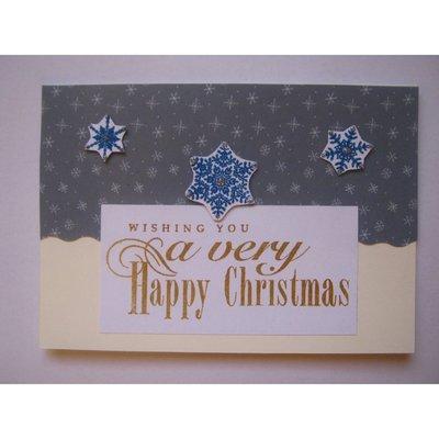 Biglietto natalizio snowflakes