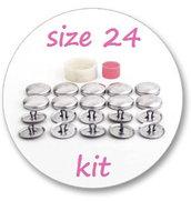 Creabottoni - kit per creare bottoni con la stoffa - 24