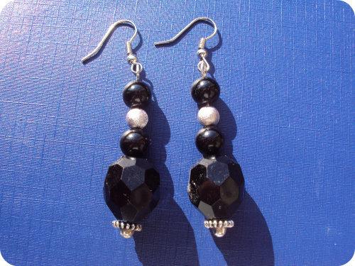 Orecchini eleganti nero / argento