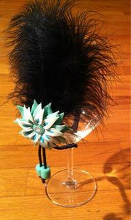 Cerchietto per capelli con vere piume nere