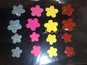 STOCK 16 fiori panno adesivi Decorazioni scrapbooking