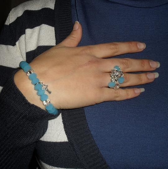 bracciale e anello abbinati
