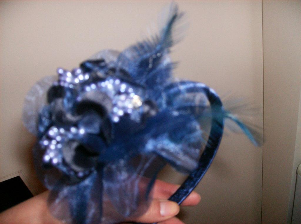 cerchietto Flower blu!..
