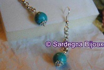 Orecchini con perle turchesi